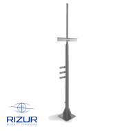 Vertical pipe stand with narrowing RIZUR-CVKS