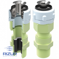 Cable gland for non-armored cable in a metal hose RIZUR-KVVNM