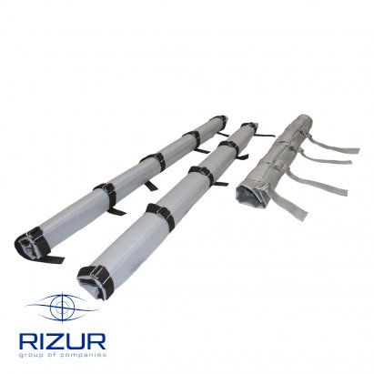 Heat shield sleeves RIZUR for pipe sections and impulse lines