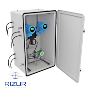 Reinforced fiberglass enclosures RIZURBOX-C with classical opening