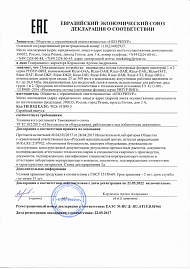 Certificate RIZUR-TERM, RIZUR-OShA, RIZUR-Arctic Declaration for the general purpose industrial version